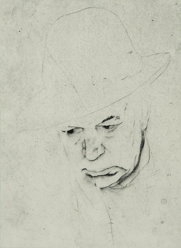 Autoitratto Mario Lattes, disegno