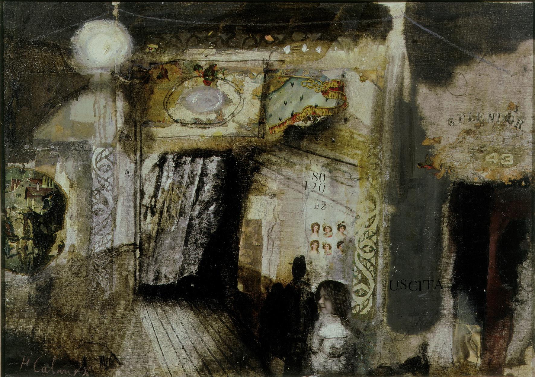 Cine Splendor,1969, tecnica mista su tela