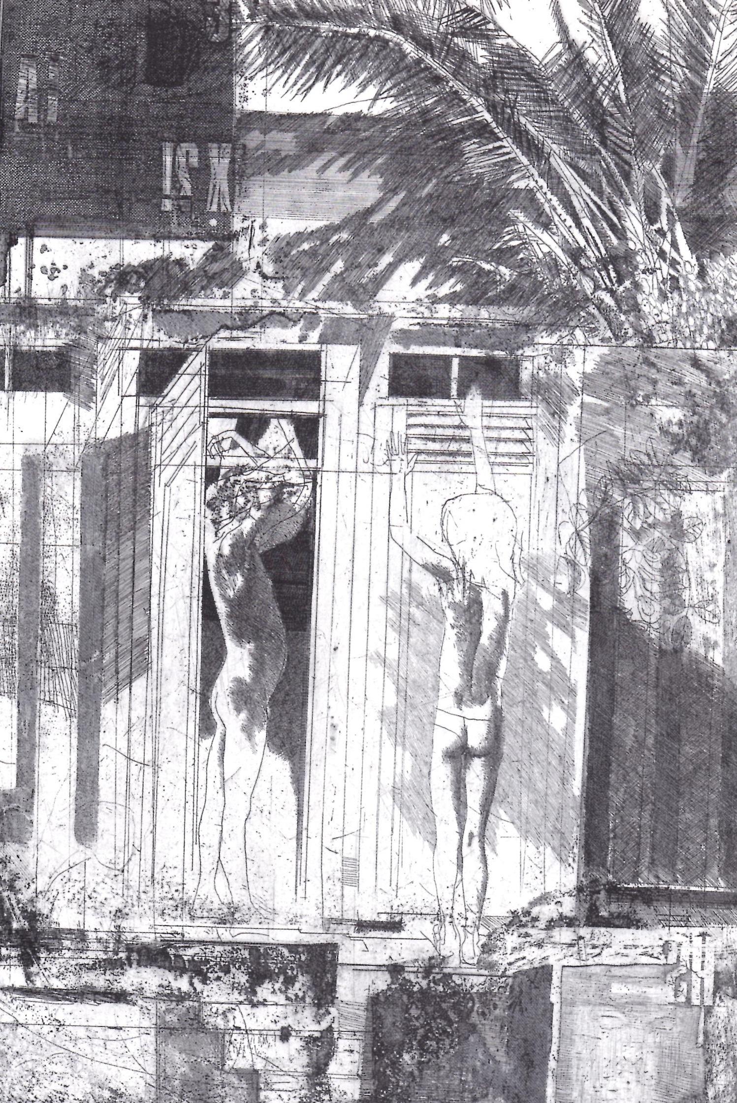 Bagni lido, 1969, acquaforte su zinco