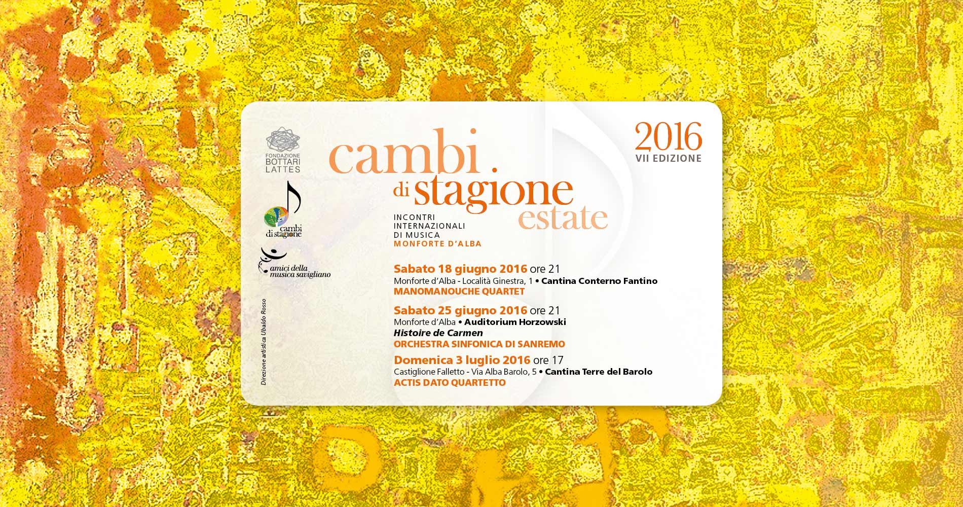 Cambi di stagione estate 2016