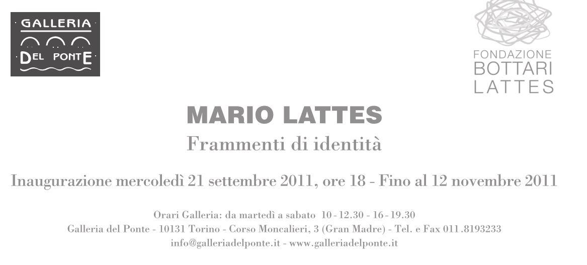 Mario Lattes, Frammenti di identità