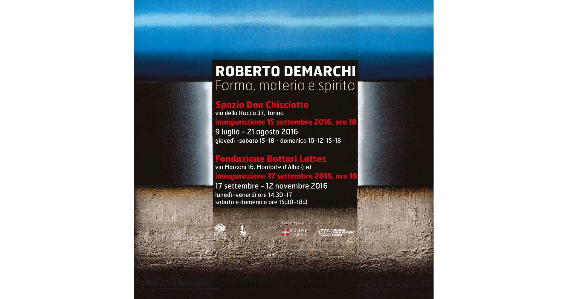 Roberto Demarchi  Forma, materia e spirito