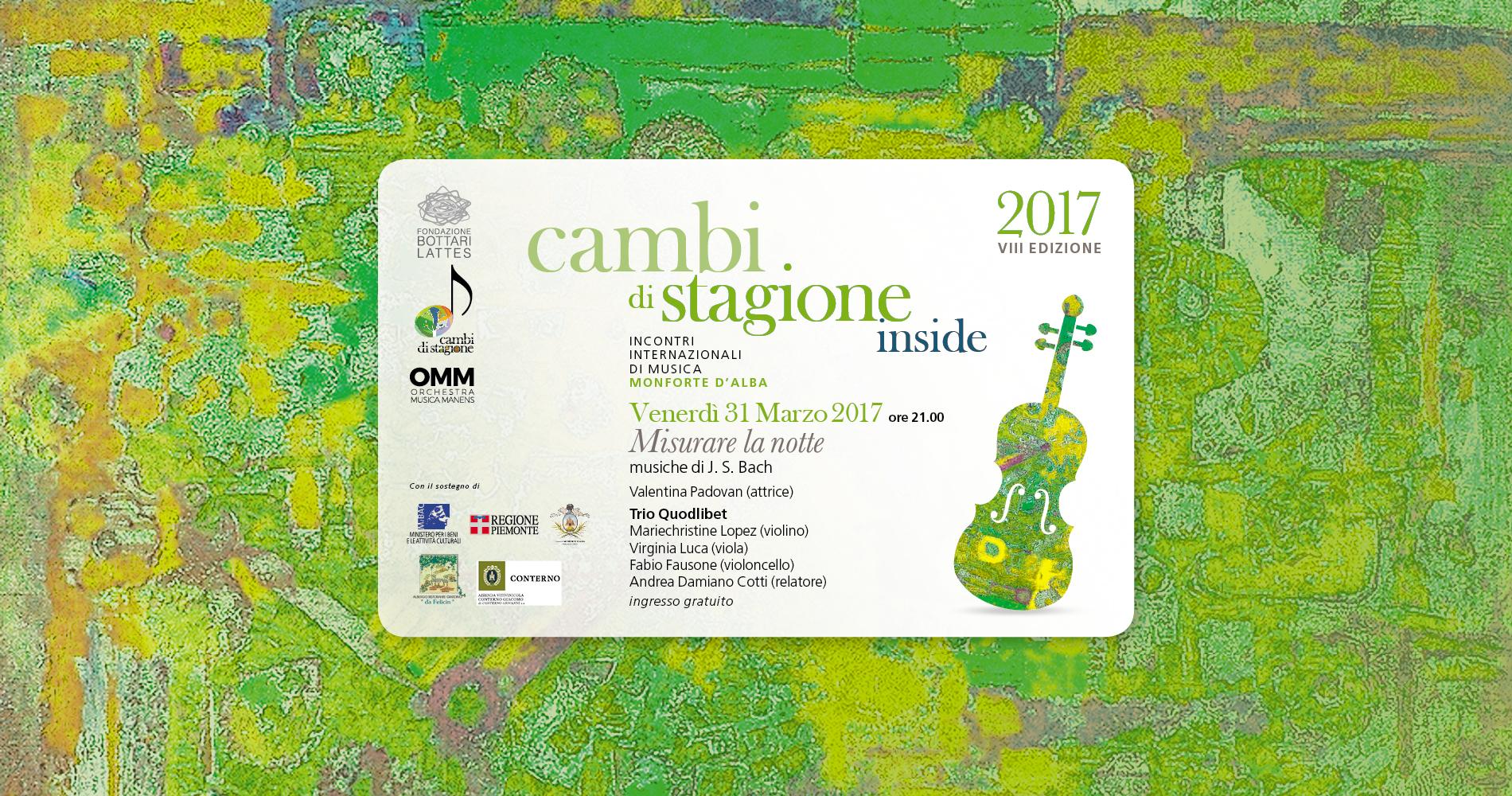Ottava edizione del festival di musica Cambi di Stagione