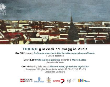 Giornata dedicata a Mario Lattes - Giovedì 11 maggio 2017