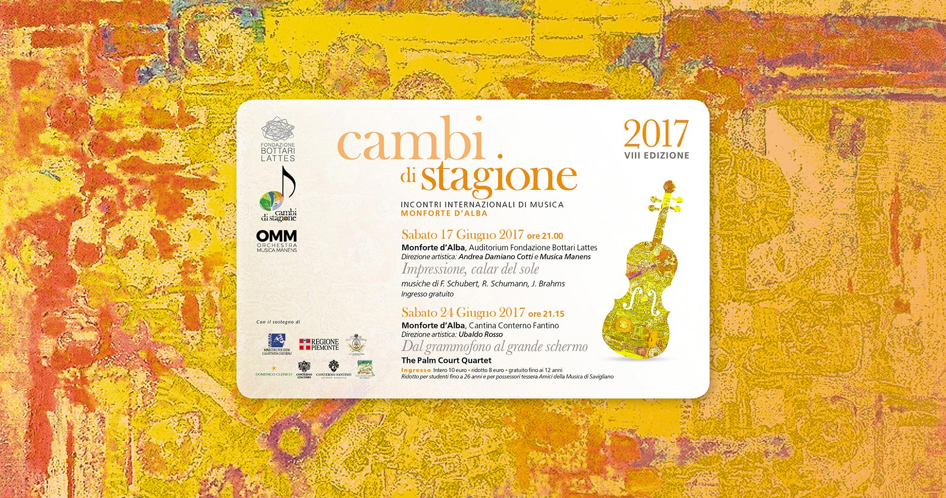L'estate con la musica di Cambi di Stagione: Orchestra Musica Manens e The Palm Court Quartet