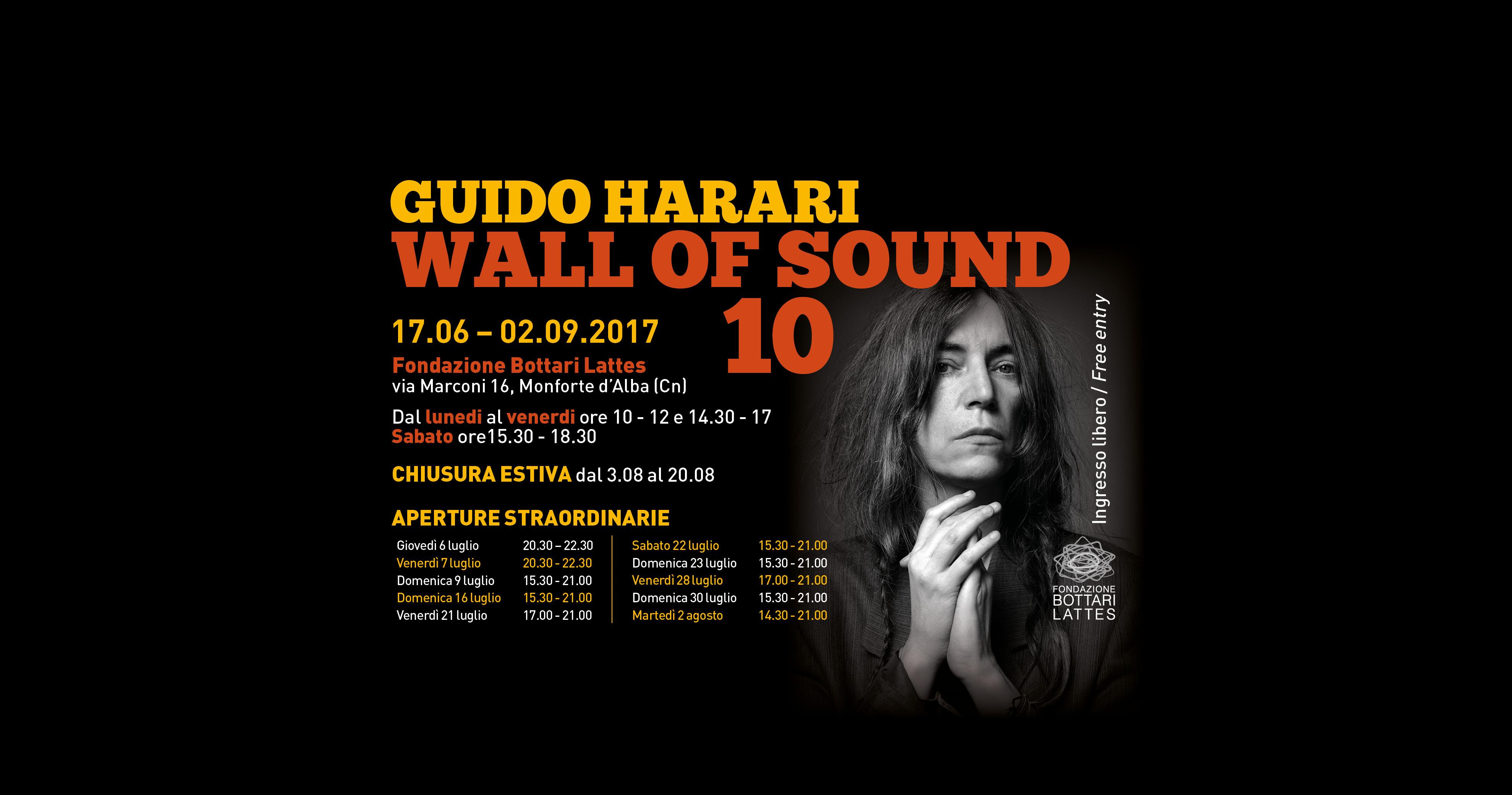 Aperture straordinarie per la mostra Wall of Sound 10  di Guido Harari