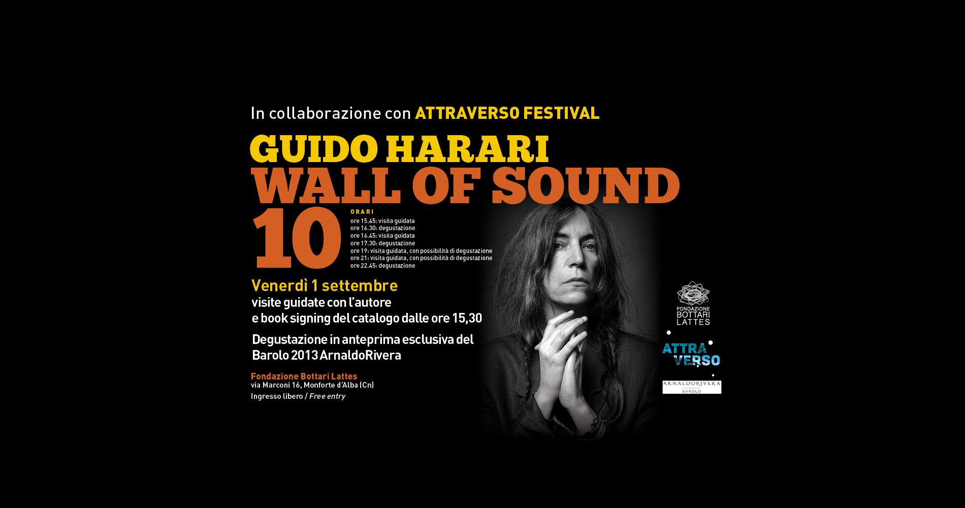 In occasione di Attraverso Festival il fotografo Guido Harari  racconta la mostra Wall of Sound 10 alla Fondazione Bottari Lattes