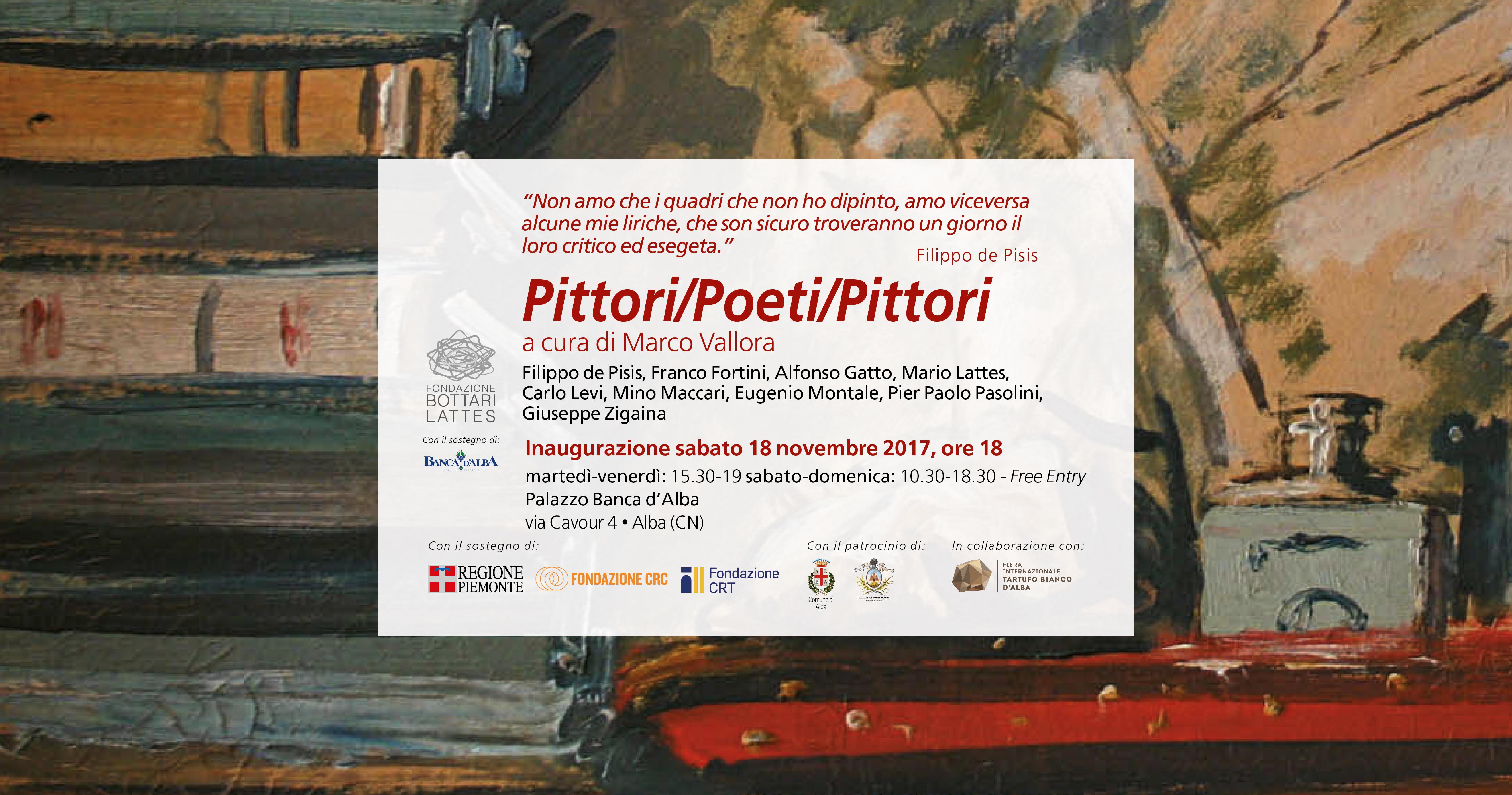 """""""Pittori/Poeti/Pittori"""", mostra tra arte e poesia a cura di Marco Vallora"""