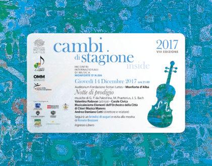 """Cambi di Stagione: concerto natalizio """"Notte di Prodigio"""""""