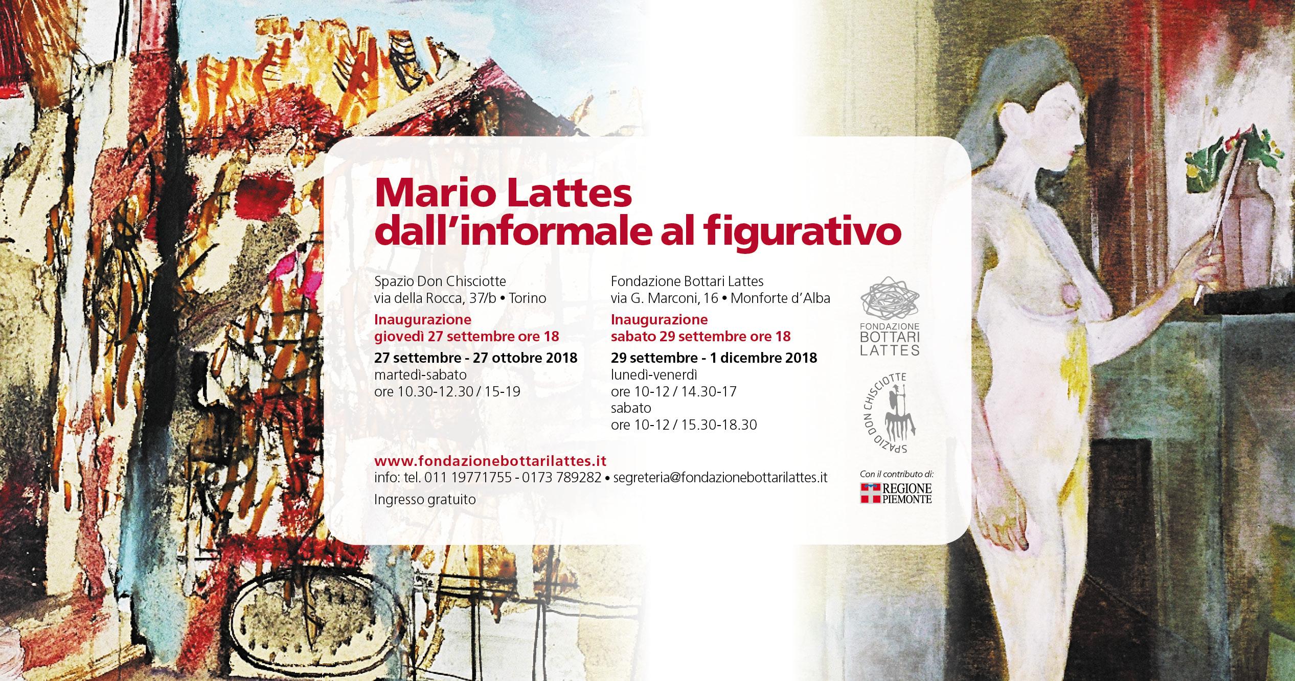 """Mostra """"Mario Lattes  dall'informale al figurativo"""""""