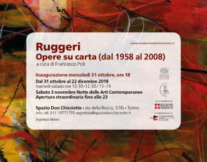 "Mostra ""Ruggeri. Opere su carta (dal 1958 al 2008)"""