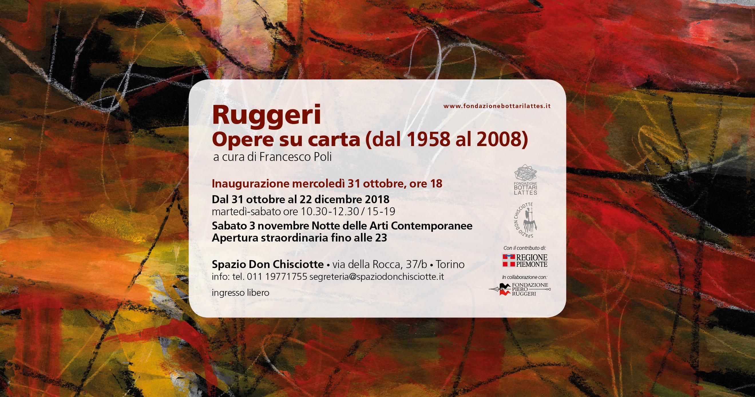 """Ruggeri. Opere su carta (dal 1958 al 2008)"""""""