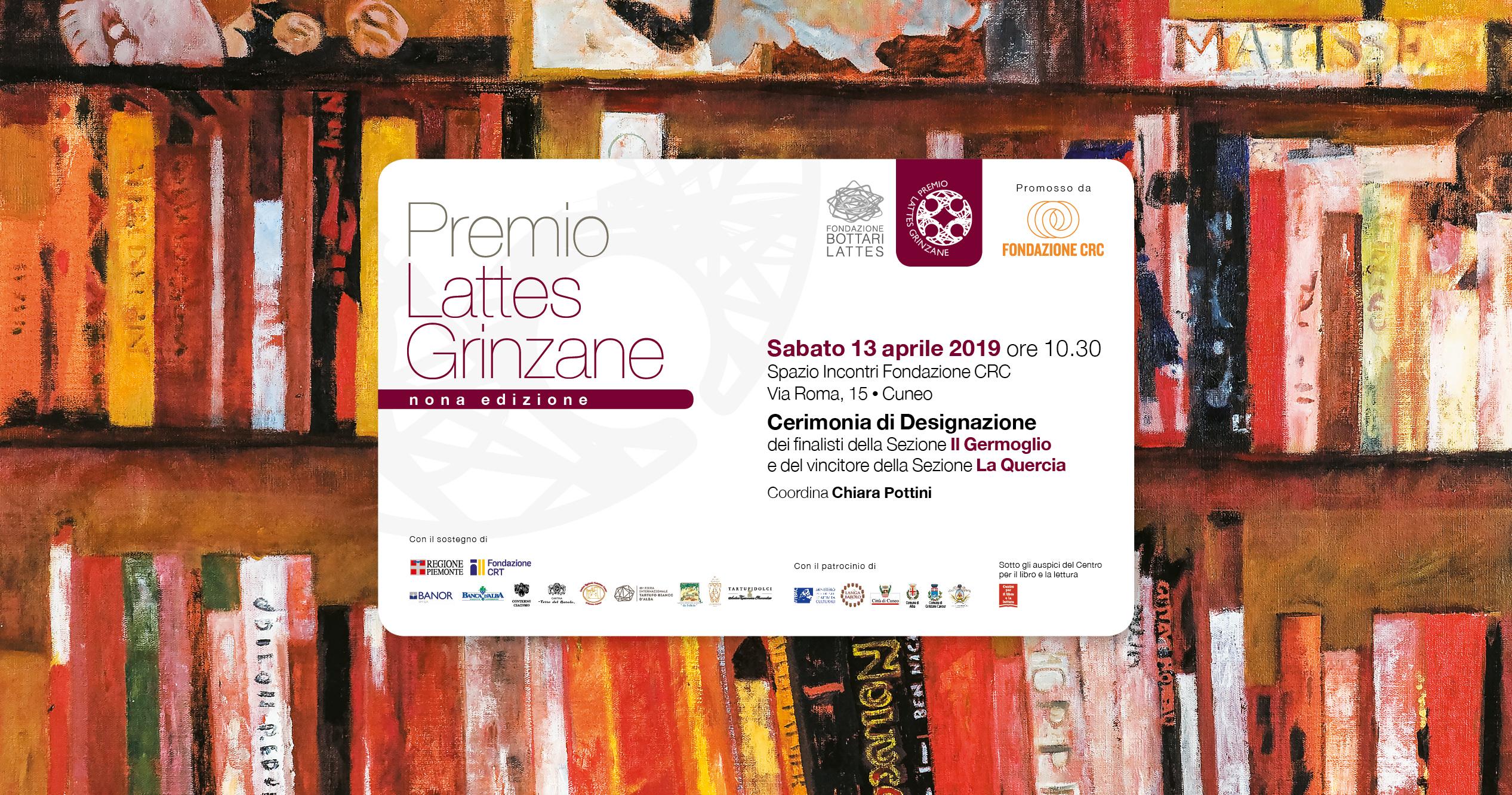 Il Premio Lattes Grinzane designa i finalisti sezione Il Germoglio e il vincitore sezione La Quercia 2019