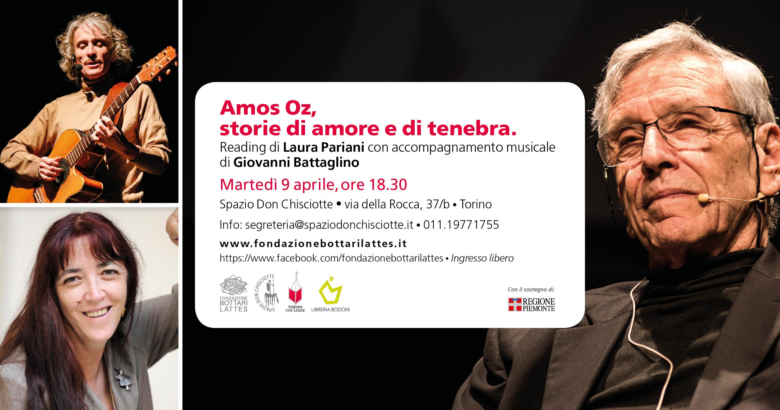 """""""Amos Oz, storie di amore e di tenebra"""", reading di Laura Pariani"""