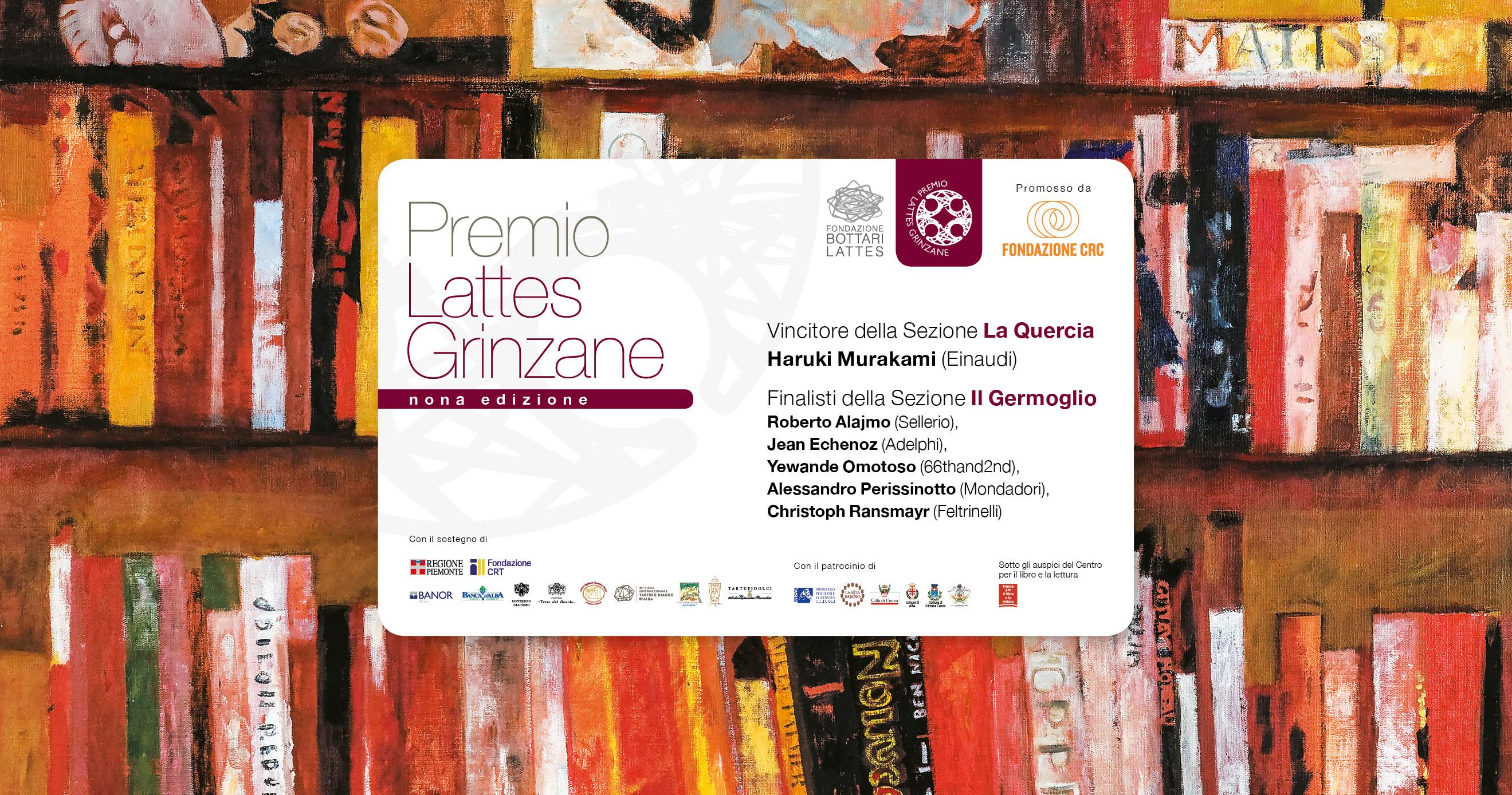 Murakami vincitore La Quercia. Alajmo, Echenoz, Omotoso, Perissinotto e Ransmayr finalisti Il Germoglio