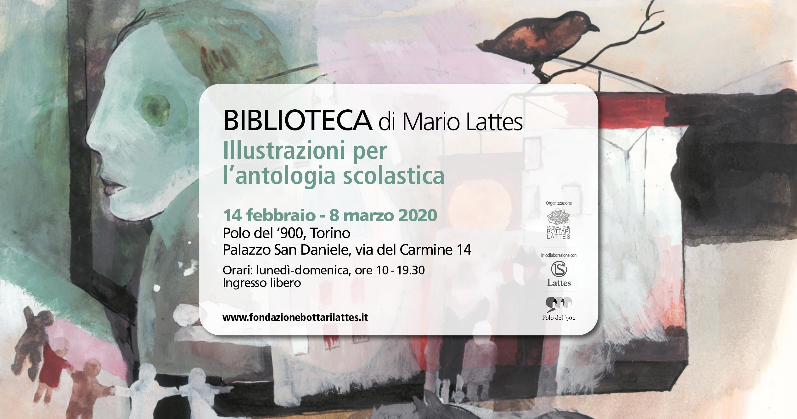 """Mostra """"Biblioteca"""" di Mario Lattes al Polo del '900"""