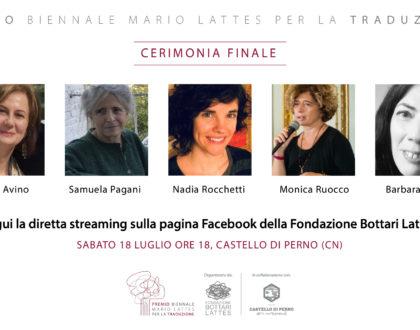 Sabato 18 luglio si conoscerà la vincitrice tra le finaliste al Premio biennale Mario Lattes per la Traduzione