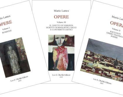 """Il volume """"Opere di Mario Lattes"""" (Olschki editore)"""