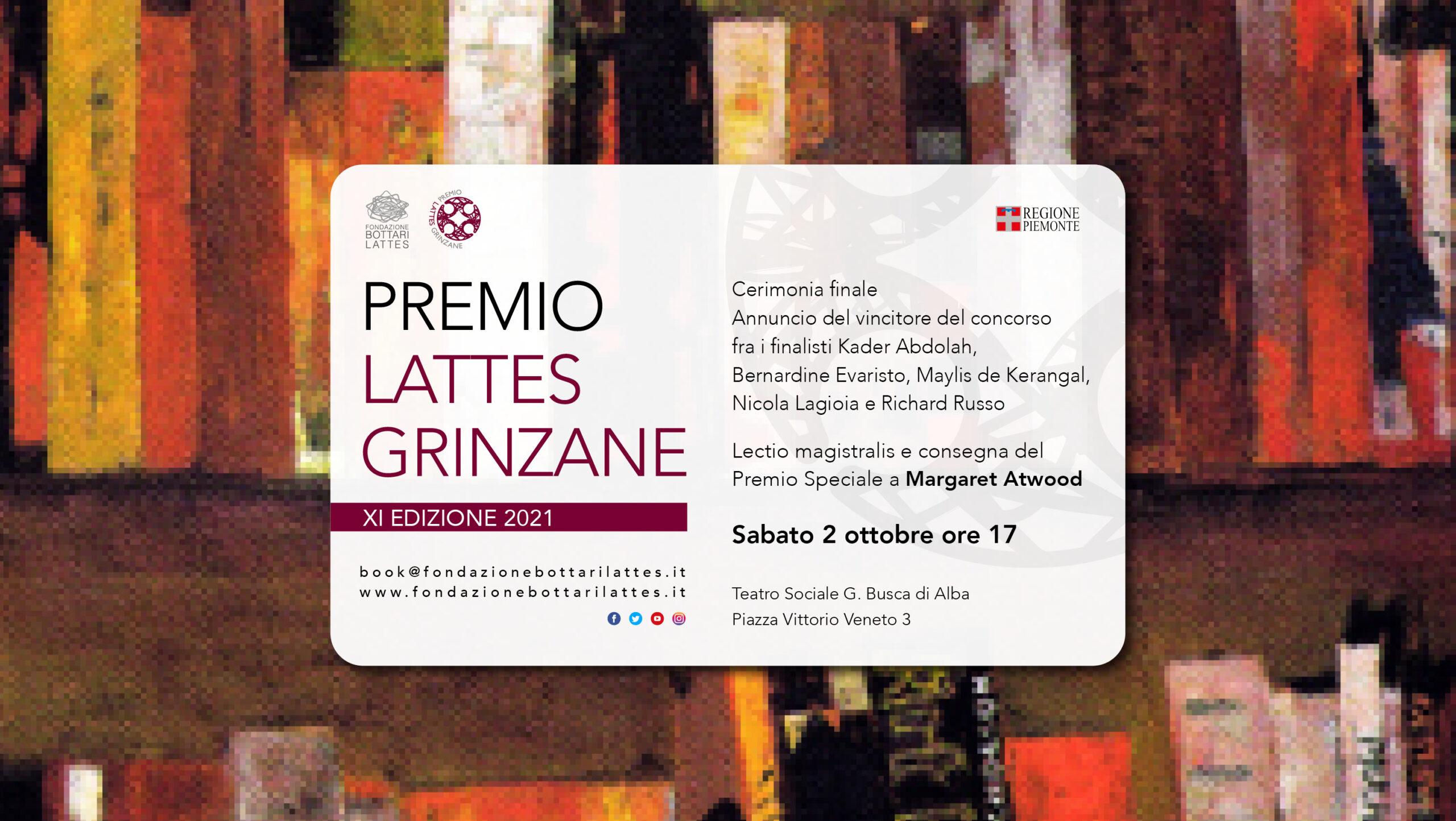 Premio Lattes Grinzane 2021: i 5 finalisti e il Premio Speciale, XI edizione